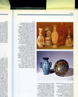 Page from reference book of antiques