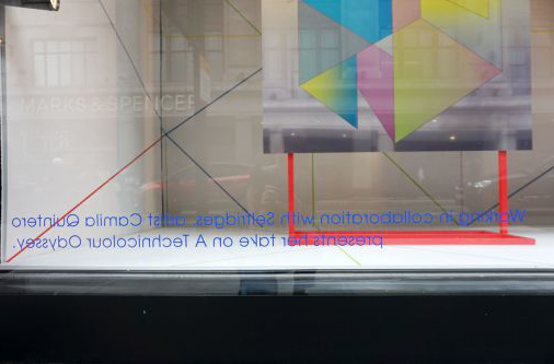 Credit for Camila's work in Selfridges' window